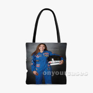 Alyssa Carson Custom Personalized Tote Bag Polyester with Small Medium Large Size