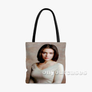 Alyssa Milano Custom Personalized Tote Bag Polyester with Small Medium Large Size