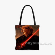 Anakin Skywalker Star Wars Custom Personalized Tote Bag Polyester with Small Medium Large Size