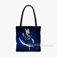 Anime Wolf Girl Custom Personalized Tote Bag Polyester with Small Medium Large Size