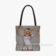 Anna Faris Custom Personalized Tote Bag Polyester with Small Medium Large Size