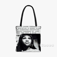 Aretha Franklin Quotes Custom Personalized Tote Bag Polyester with Small Medium Large Size