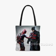 Deadpool Batman Custom Personalized Tote Bag Polyester with Small Medium Large Size
