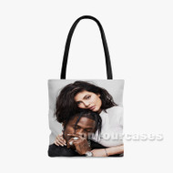 Kylie Jenner and Travis Scott Custom Personalized Tote Bag Polyester with Small Medium Large Size