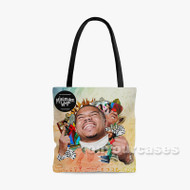Taylor Bennet Custom Personalized Tote Bag Polyester with Small Medium Large Size