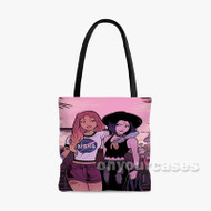 Teen Titans Girl Custom Personalized Tote Bag Polyester with Small Medium Large Size