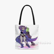 Teen Titans Raven and Beast Boy Custom Personalized Tote Bag Polyester with Small Medium Large Size