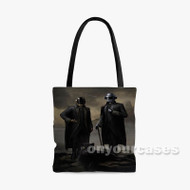 The Daft Punk Portrait The Weeknd Starboy Custom Personalized Tote Bag Polyester with Small Medium Large Size