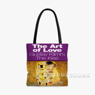 The Kiss Gustav Klimt Custom Personalized Tote Bag Polyester with Small Medium Large Size