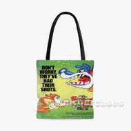 The Shnookums and Meat Funny Cartoon Show Custom Personalized Tote Bag Polyester with Small Medium Large Size