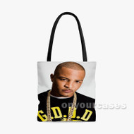 TI Rapper Custom Personalized Tote Bag Polyester with Small Medium Large Size