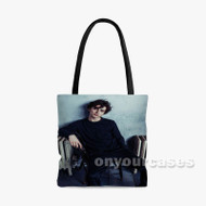 Timoth e Chalamet Custom Personalized Tote Bag Polyester with Small Medium Large Size