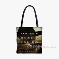 Tombstone Quotes Custom Personalized Tote Bag Polyester with Small Medium Large Size