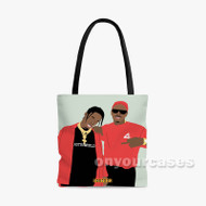 Travis Scott and YG Custom Personalized Tote Bag Polyester with Small Medium Large Size
