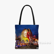 Travis Scott SICKO MODE Custom Personalized Tote Bag Polyester with Small Medium Large Size