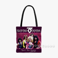 Twisted Sister Custom Personalized Tote Bag Polyester with Small Medium Large Size