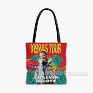 Vibras Tour J Balvin Custom Personalized Tote Bag Polyester with Small Medium Large Size