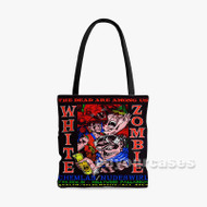 White Zombie Custom Personalized Tote Bag Polyester with Small Medium Large Size