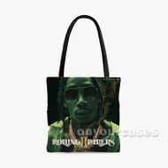 Wiz Khalifa Rolling Papers Custom Personalized Tote Bag Polyester with Small Medium Large Size