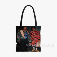 YG and Asap Rocky Custom Personalized Tote Bag Polyester with Small Medium Large Size