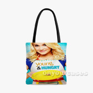 Young and Hungry Custom Personalized Tote Bag Polyester with Small Medium Large Size
