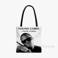 Young Chris Custom Personalized Tote Bag Polyester with Small Medium Large Size