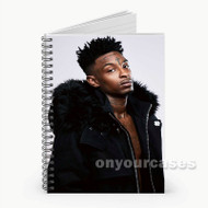 21 Savage Custom Personalized Spiral Notebook Cover with Small Medium Large Size