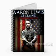 Aaron Lewis Custom Personalized Spiral Notebook Cover with Small Medium Large Size