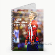 Antonie Griezmann Custom Personalized Spiral Notebook Cover with Small Medium Large Size