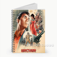 Archer Custom Personalized Spiral Notebook Cover with Small Medium Large Size