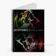 Acceptance Fire And Rain Custom Personalized Spiral Notebook Cover with Small Medium Large Size