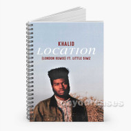 Khalid Feat Lil Wayne Kehlani Location Custom Personalized Spiral Notebook Cover with Small Medium Large Size