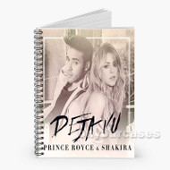 Prince Royce and Shakira Deja Vu Custom Personalized Spiral Notebook Cover with Small Medium Large Size