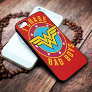Wonder Woman I Chase Bad Boys on your case iphone 4 4s 5 5s 5c 6 6plus 7 case / cases