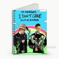 Ed Sheeran and Justin Bieber Custom Personalized Spiral Notebook Cover