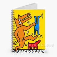keith haring Custom Personalized Spiral Notebook Cover