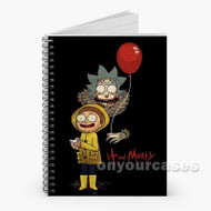 Rick and Morty IT Custom Personalized Spiral Notebook Cover