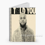 Tory Lanez Custom Personalized Spiral Notebook Cover