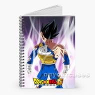 Vegeta Dragon Ball Super Custom Personalized Spiral Notebook Cover