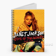 Janet Jackson State of the World Custom Personalized Spiral Notebook Cover with Small Medium Large Size