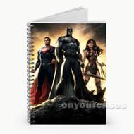 Batman Superman Wonder Woman Superheroes Custom Personalized Spiral Notebook Cover