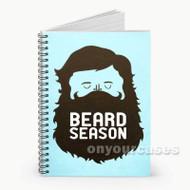 Beard Season Custom Personalized Spiral Notebook Cover