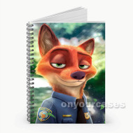 Lt Nick Wilde Zootopia Disney Custom Personalized Spiral Notebook Cover