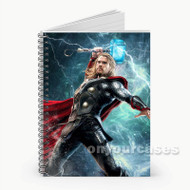 Thor Marvel Custom Personalized Spiral Notebook Cover