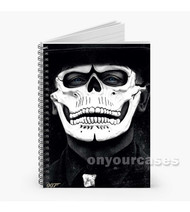 007 Spectre James Bond Skull Mask Custom Personalized Spiral Notebook Cover