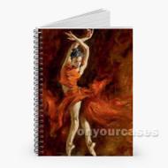 Andrew Atroshenko Fiery Dance Custom Personalized Spiral Notebook Cover