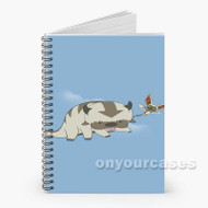 Avatar the Last Airbender Appa Yip Yip and Momo Custom Personalized Spiral Notebook Cover