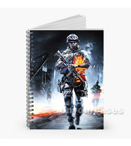 Battlefield 3 Custom Personalized Spiral Notebook Cover