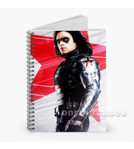 Bucky Barnes Civil War Captain America 2016 Custom Personalized Spiral Notebook Cover
