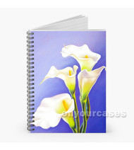 Calla Lily Custom Personalized Spiral Notebook Cover